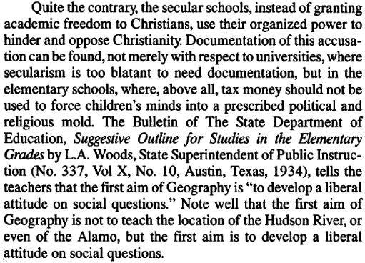 Dr Gorden H Clark Christian Philosophy of Education page 171