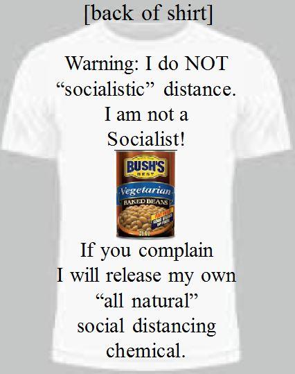 Socialistic distancing t-shirt